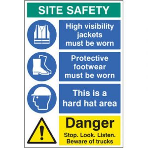 construction safety sign